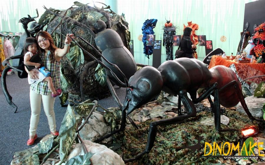 Animatronic insect exhibition