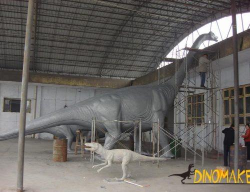 Dinosaur fossil skeleton