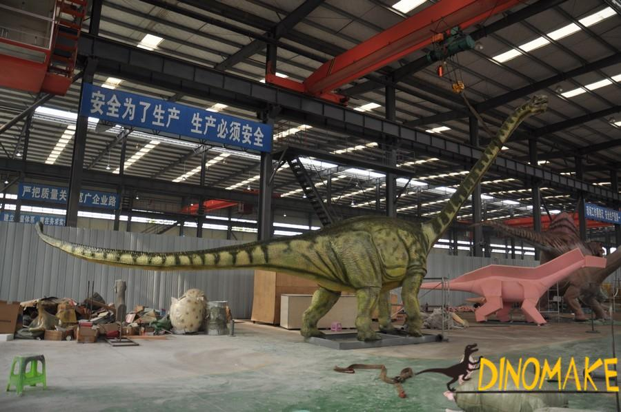 Manufacturing method of animatronic dinosaur winding dragon