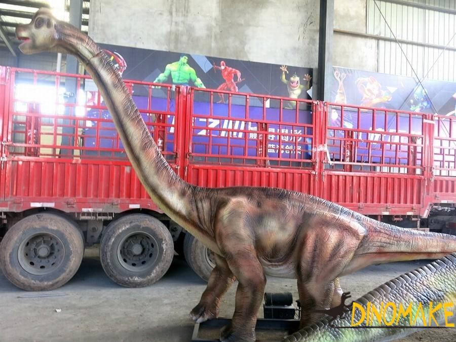 Manufacturing method of animatronic dinosaurs winding dragon