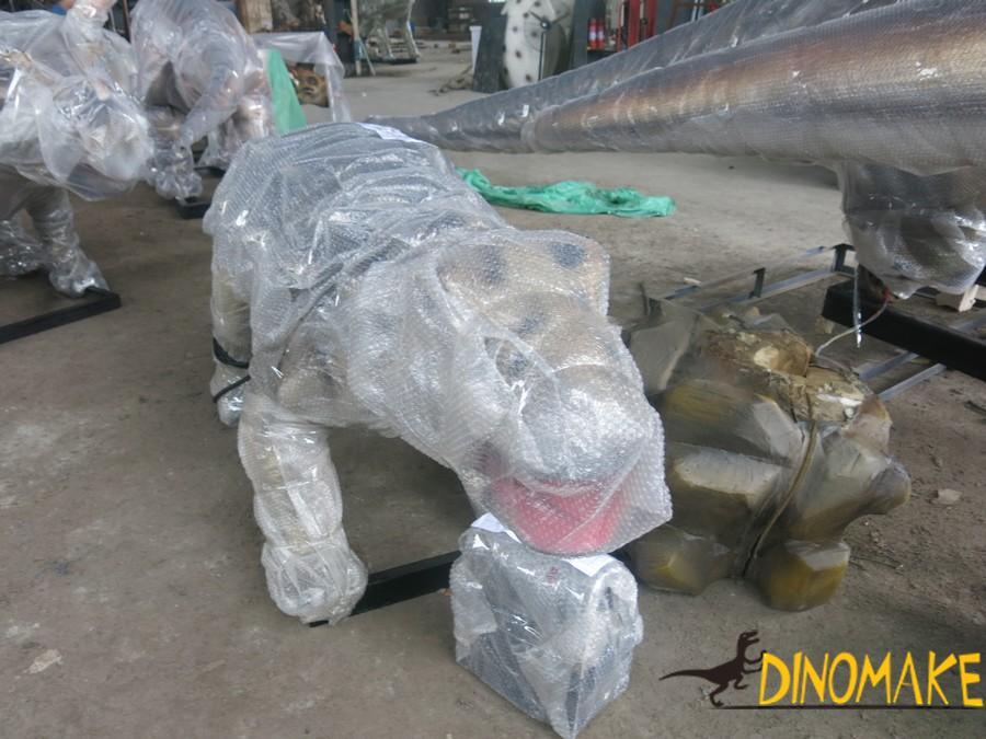 Materials used in the animatronic of dinosaur production