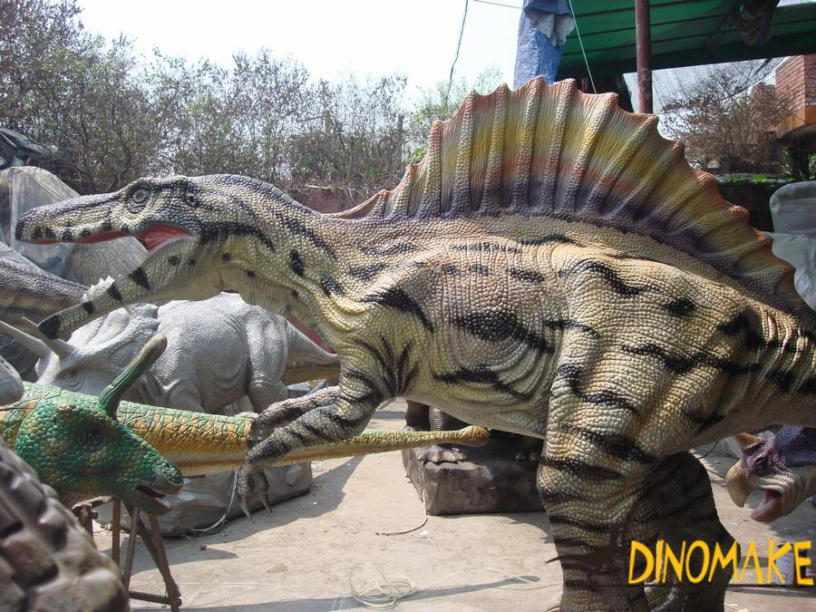 The most famous animatronic dinosaur Stegosaurus from the swollen head dragon
