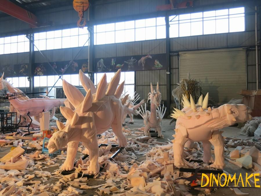 Volkswagen Stegosaurus Among Dinosaurs