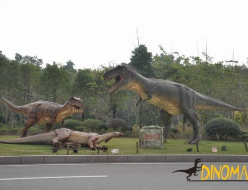 What are the production processes of animatronic dinosaurs