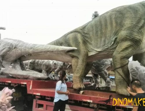 animatronic dinosaur exhibition plant arrangement