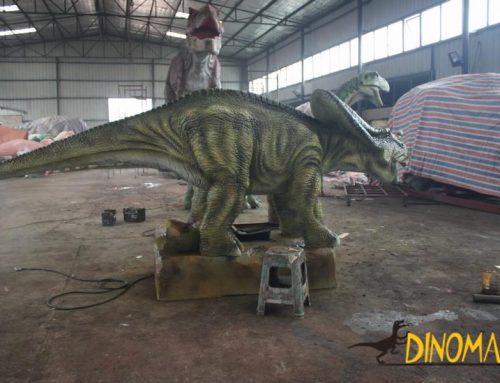 animatronic of the past and present of the dinosaur Yongchuan Dragon