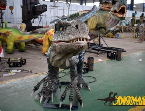 Animatronic animals and dinosaurs used as museums